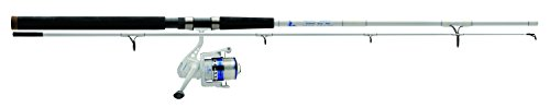 - Eagle Claw MSSB802MS Surf Beast Spinning Combo, 8' Length, 2 Piece Rod, Medium Power, 5+1 Bearings