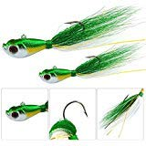JSHANMEI Bucktail Jig Lure 3D Eyes Saltwater Fishing, used for sale  Delivered anywhere in USA