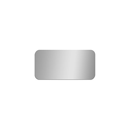 GLOSSY GALLERY Rectangle Shatterproof Acrylic Safety Mirror With Rounded Corners - 12in x 24in