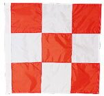Cheap Orange & White Checkered Flag 3 ft. x 3 ft.