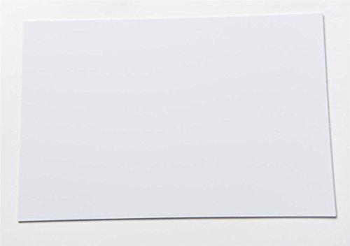 (KAISH Blank Guitar Bass Pickguard Material Scratch Plate Material Sheet 290x430mm White 1 Ply )