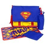 Superman Blue Messenger Diaper Bag Set SUE43803