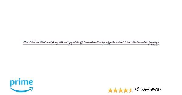 Amazon.com : Carson Dellosa Cursive Alphabet Traditional Desk Tape ...