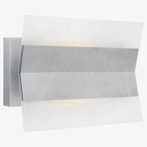 Eglo 90229A 1x10W LED Outdoor Wall Light with Satin Glass, Stainless Steel Finish
