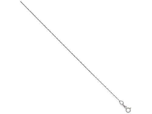 Square Cut Snake - Finejewelers 14k White Gold Bright Cut Twisted Square Snake Chain Necklace
