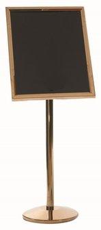 Aarco P5B Brass Single Pedestal Menus, Posters and Artwork - Aarco Pedestal Single