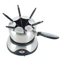 Russell Hobbs RHFD2 Stainless Steel Fondue Maker with Cast Aluminum Hot Plate by Russell Hobbs