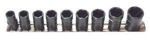 H.b. Products Inc TSMS3809B 9 Piece 3/8 Drive Metric Turbosocket Set (Turbosocket Set)