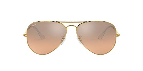 Ray-Ban RB3025 Aviator Classic Sunglasses, Gold/Pink Mirror Gradient, 55 mm (Ray-ban Sonnenbrillen Aviator Small)