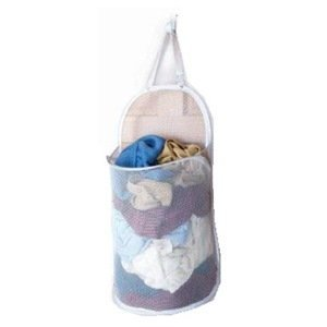 Pop-Open Over the Door Laundry Hamper, Collapsible Mesh, (Holds 1 Load)