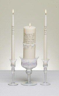 Candle Pearl Unity (Enesco Pearl Wedding Unity Candle Holders)