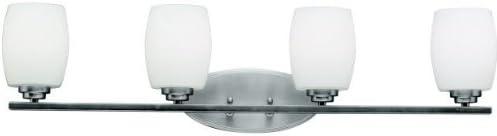 Kichler 5097CH Bath Vanity Wall Lighting Fixtures, Chrome 2-Light 15 W x 10 H 200 Watts