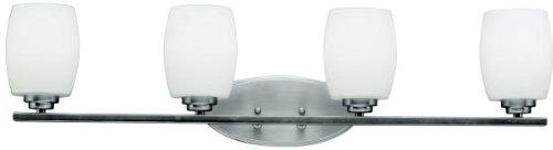 Kichler 5099NI Bath Vanity Wall Lighting Fixtures, Brushed Nickel 4-Light (34