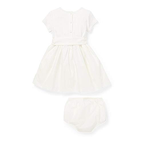 (Ralph Lauren Baby Baby Girl's Knit-Woven Fit & Flare Dress (Infant) Nevis 18 mos)