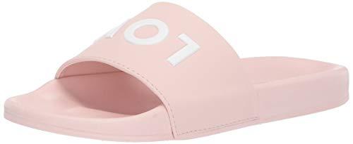 BCBGeneration Women's Tasha Low Key Pool Slide Sandal, Pink, 7 M US