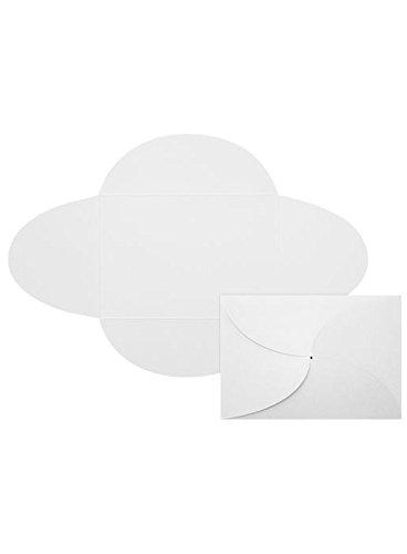 5x7 A7 Petal Invitations - 80lb. Bright White Envelopes - Pack of 20 (Bright Petal)