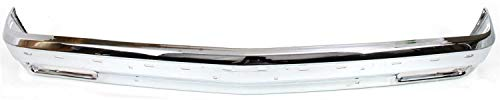 Front Bumper Compatible with CHEVROLET S10 BLAZER 1983-1994/S10 PICKUP 1982-1993 Chrome with Molding Holes