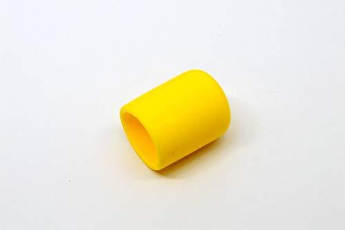 """Pkg of 6 - Yellow Vinyl Flexible Round Cap - Inner Diameter - 3/4"""", Inside Height - 1"""""""