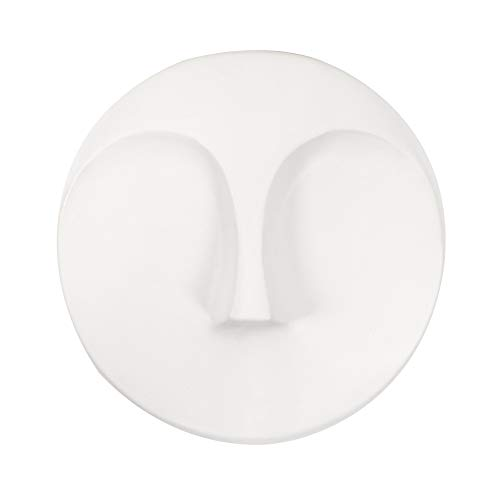 Howard Elliott Matte White Round Face Wall - Face Sculpture Wall