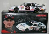 2004 Edition of 2001 Kevin Harvick #29 GM Goodwrench Service Plus Chevy Monte Carlo 1/24 Diecast Hood Opens, Trunk Opens HOTO Yellow Rookie Stripes