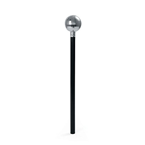 Bristol Novelty BA120 Mirror Ball Cane, Unisex-Adult, Silver, One Size
