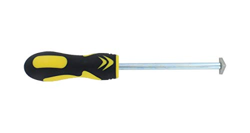 ABN Carbide Tip Grout Removal Hand Tool, Soft Grip & Reversible Triangle Blade for Detail Work