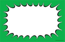 (CYC308 Blank Burst Design Retail Price Cards Signs - Green and Black Pack of 100 Cards - Business Store Signage (3 1/2