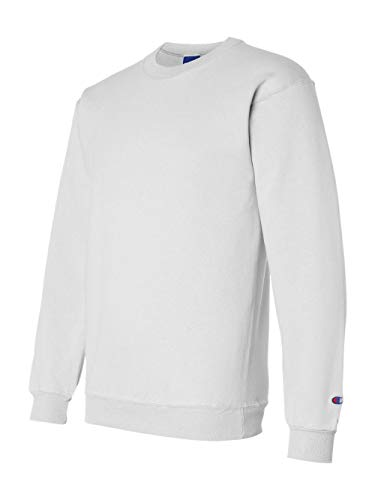 - Champion Adult 50/50 Crewneck Sweatshirt, White - Size Small
