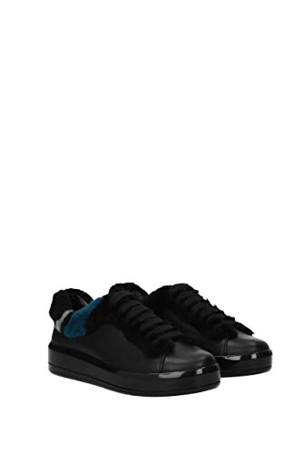 Femme 1E777H Sneakers EU Cuir Prada Noir zq1Swp5