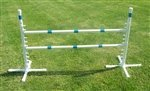 Agility Gear Free Standing Competition Jump (Ver II) - One Jump with Two 48'' Striped Bars by Agility Gear (Image #2)