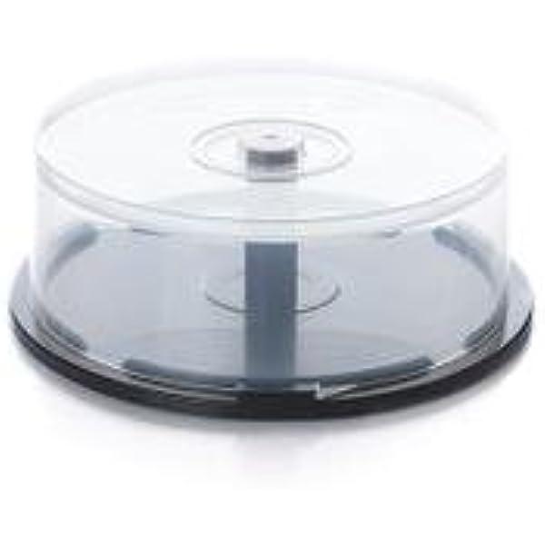 Caja de cd/dvd, transparente plástico cubos (capacidad 25 discos ...