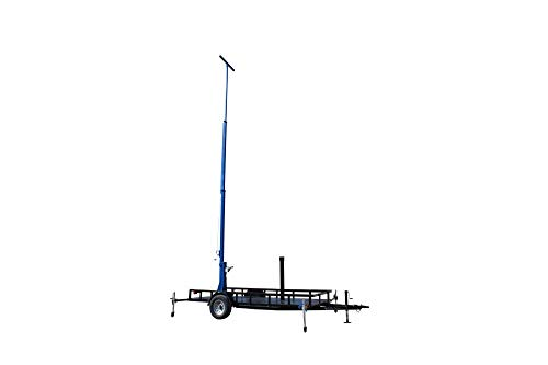 Pivoting Panel (Larson Electronics 2-Stage Light Mast on 6' x 4' Single Axle Trailer - Extends up to 16' - Pivoting Solar Panel Mount)