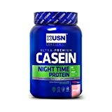 fitnesshealth USN Casein Night Time Protein, Strawberry, 908 g