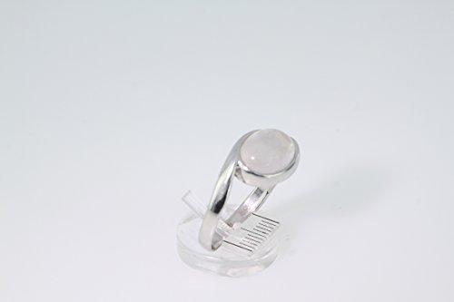 Bague en Quartz rose 38-16 - Bijoux en argent rhodié et Quartz rose - Toutes tailles et diverses pierres - ARTIPOL