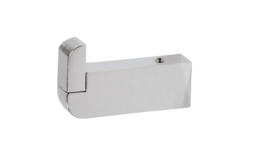 Musa Towel Robe Hook Small Decorative Bathroom Towel Holder, Polished Chrome, Wall Mounted, Small Bathroom Ideas, Made in Spain (European Brand) by Hispania bath