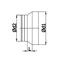 /18112/ /R/éducteur R/éduction tube tuyau flexible tuyau flexible da/ération Wick Onze de manivelle en aluminium galvanis/é mkk/