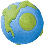 Planet Dog Orbee Ball, Planet Ball, Durable Chew-Fetch Dog Ball, Tough, Made in the USA, Large 4″, Blue and Green Review