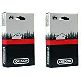 2 Pack Oregon 73LGX068G 68 Drive Link Super Guard Chisel Chains (for 18