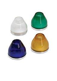 Round Accessory Shield Glass - Round Glass Shield amber