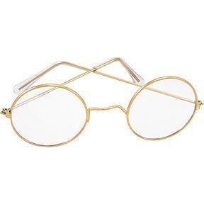 Round Wire Rim Glasses Costume Accessory -