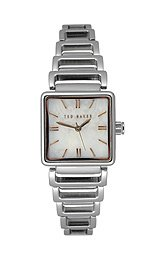 Ted Baker Women's TE4012 Bel-Ted Square 3-Hand Analog Stainless Steel Watch