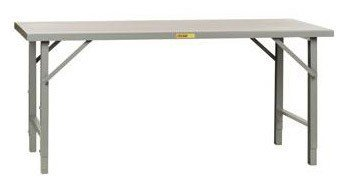 Little Giant WFH-3672-AH Steel Folding Leg Welded Workbench with Hardboard Over Steel Top, 3000 lbs Capacity, 72