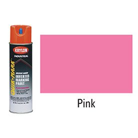 Solvent Mark Industrial Quik (Quik-Mark™ Solvent-Based Fluorescent Hot Pink Inverted Marking Paint [Set of 12])