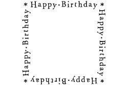 Motivstempel Bilderstempel Stempel Happy Birthday Rahmen