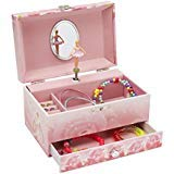 JewelKeeper Music Jewelry Box with Pullout Drawer, Jewel Storage Case, Swan Lake Tune