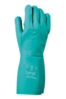 SHOWA Best Glove Size 8 Green Nitri-Solve 13