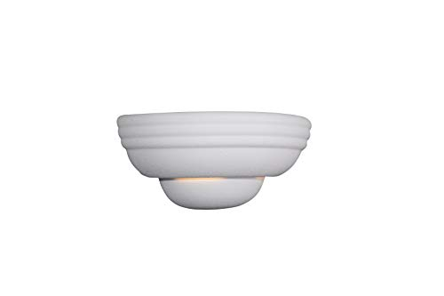 Designers Fountain 6030-WH Value Collection Wall Sconces, Paintable Ceramic ()