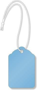 Merchandise Tags, Dark Blue #6 (1-7/8'' x 1-1/4''), Hole-with String - Box of 1,000 Tags
