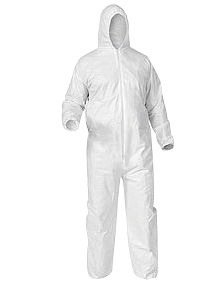 - Kimberly-Clark Professional 2X White KLEENGUARD A35 Microporous Film Laminate Disposable Liquid And Particle Protection Hooded Coveralls With Front Zipper Closure (25)
