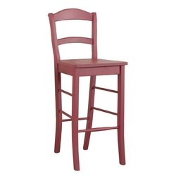 "30"" Venetian Barstool - Antique Red"